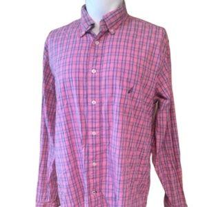 NAUTICA Pink & Blue Dress Shirt Size Large